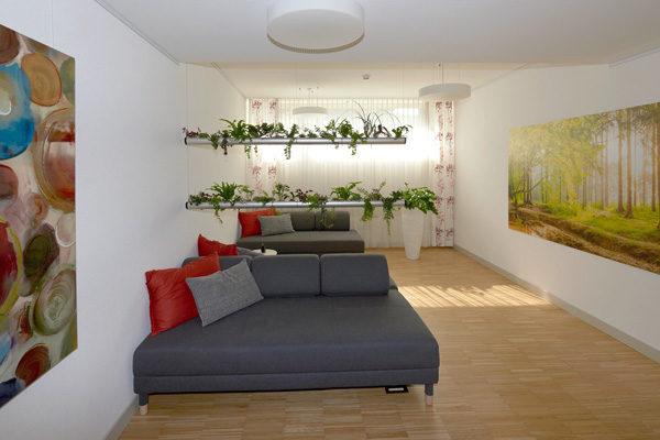 raumwunder | Ruheraum | Gestaltung mit Bilder, Farben und Pflanzen